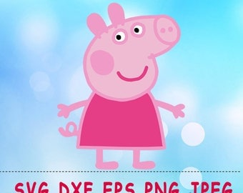 Peppa Pig SVG DXF Png Cut Vector Files Silhouette Studio Cameo Cricut Design Vinyl Decal Scrapbooking Stencil Birthday Party