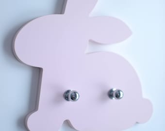 Bunny Hanger, Key Holder, Coat Rack, Wall Hanger, Bunny Decor, Kids Coat Rack