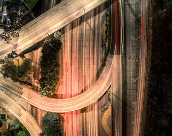 glowing asphalt
