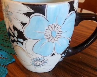 Laurie Gates Floral Coffee mug