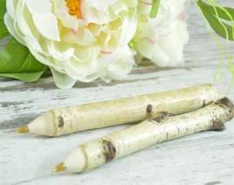 Engraved Twig Birch Pen - Personalised Twig Pen - Wooden Engraved Pen - Rustic Pen - Wedding Pen - Wedding Favours - Wooden Pen