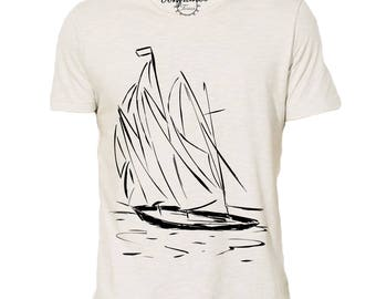 """Trust"" organic cotton boat T-shirt"