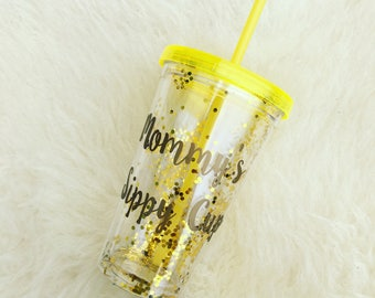 Mommy's Sippy Cup Sequined Tumbler