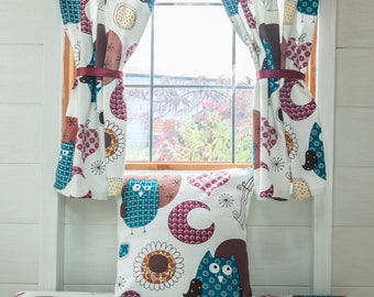 Owl playhouse curtains