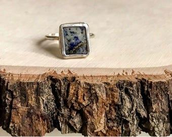 Square Lapis Ring