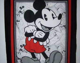 Disney's Vintage Mickey Comic Strip With Coordinating Fabric