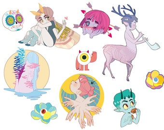 Original Art Sticker Set