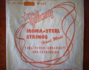 1960s Vintage Gibson Mona-Steel Mandolin-Banjo String