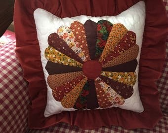 Quilted Dresden Plate Pillow