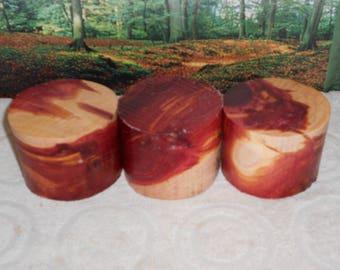 Eastern Red Cedar  3 PC, 4 X 3  turning wood bowl  blanks  lathe,  free shipping  #8762