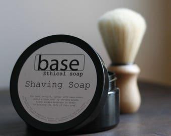 Shaving soap   handmade   pot - set   earthy mint   dual lye saponified   luxurious lather