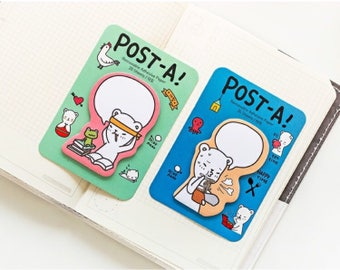 Cute Bear Memo Pad/ Sticky Note