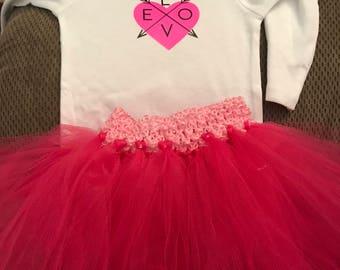 Love Arrow Tee/Bodysuit and Pink Tutu