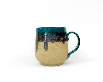 Turquoise and Calico Mug