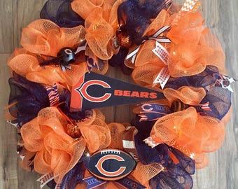 Chicago Bears  LED Wreath