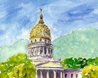 WV State Capitol print