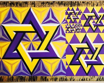 Purple and Yellow Star