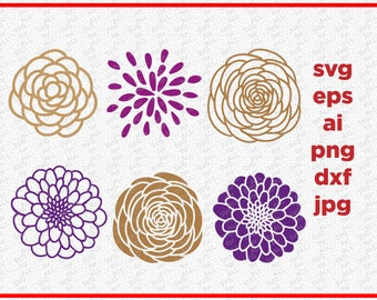 Floral SVG, Flower Svg, Floral Ornaments SVG, Blossom Svg, Floral Clipart, Floral Blossom Svg, Floral Cut file, Floral Dxf, Floral Cricut