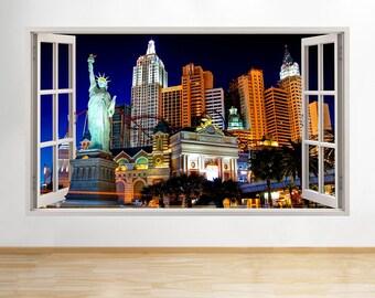 D740 New York Las Vegas Casino Cool Window Wall Decal 3D Art Stickers Vinyl  Room Kids Part 93