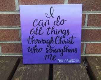 I Can do all Things Through Christ who Strengthems Me