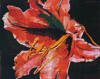 Stargazer Lily Painting (canvas print)
