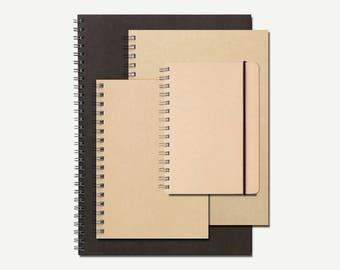 Muji, Wired Notebook - blank notebook, dotted notebook, ruled notebook, Muji stationery, Japanese stationery, plain, dot, lined, journal