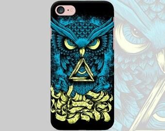 Phone case Owl iPhone 7 7 Plus 6 6s 6 plus 5 5s 5se 4s Samsung galaxy s7 edge s7 s6 s5 s4 s3 mobile phone cover hard plastic art black case