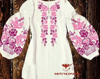 Ukrainian embroidery Vyshyvanka Embroidered white blouse Beaded  blouse Embroidered top Sorochka Handmade shirt Modern embroidery Gift woman