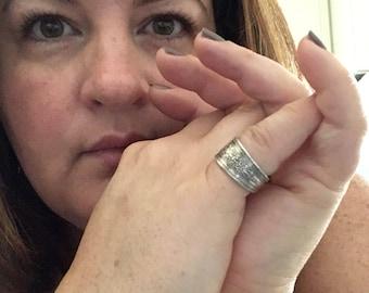 International Silver Wedgewood 925 Sterling Spoon Ring 6
