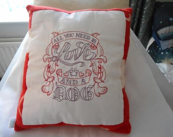 Love and a Dog Pillow