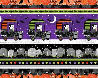 170090 Black/Multi Large Halloween Stripe (glows in the dark), Fangtastic by First Blush Studio