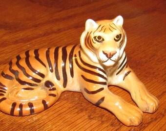 Vintage Hagen Renaker Miniature Tiger Figurine