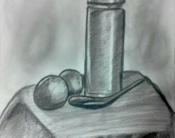 Original drawing pencil lllusration 30×40cm.