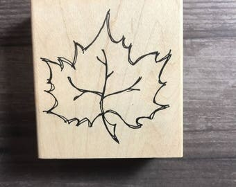 Maple Leaf Wooden Block Stamp