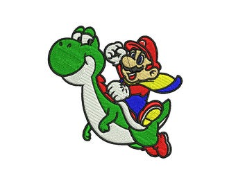 Mario Embroidery Design, Yoshi Embroidery, Mario Kart Embroidery, Super Mario embroidery, Video Game Nintendo 4x4 6x6 Hoop Embroidery