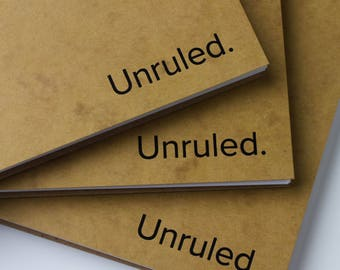 The Unruled Notebook (3-Pack) : A Tree-Positive Notebook for Visual Thinkers.