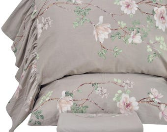 Country Rustic Floral Bed Sheet Sets Twin/Full/Queen/King