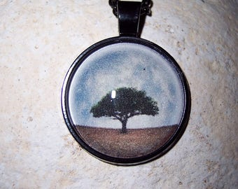 Full Moon Tree of Life Pendant Necklace