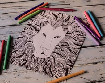 Printable Coloring Page - Lion