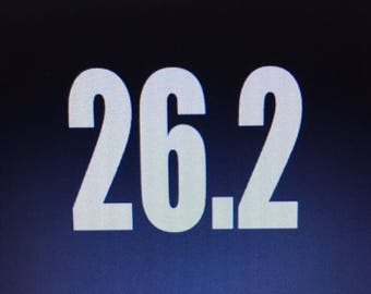 26.2 Full 13.1 Half 0.00 Don't Run! Marathon Vinyl Window Sticker! Free Shipping!