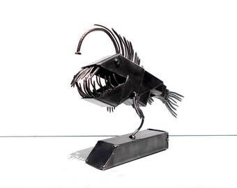Angler fish. Metal sculpture fish Art Welded Sculpture