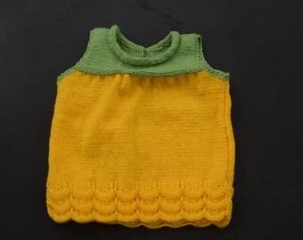 Knitted baby girl dress