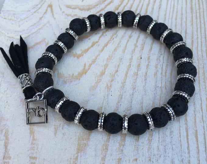 Free shipping within NL bracelet bracelet natural stone gemstone Lava