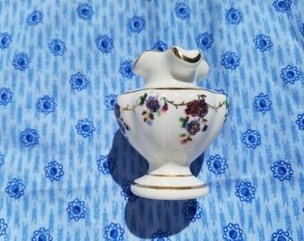 ON SALE Tiny Vintage Vase-Floral Design Toothpick Holder