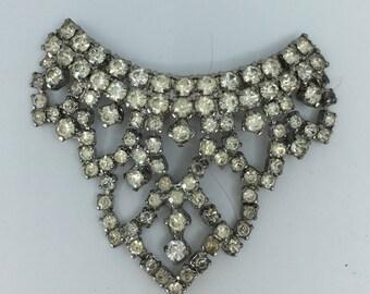 Vintage signed Musi rhinestone dress/fur clip