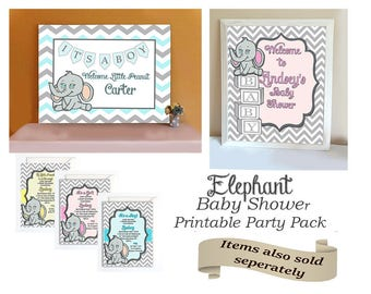 Elephant Little Peanut Baby Shower Party Package
