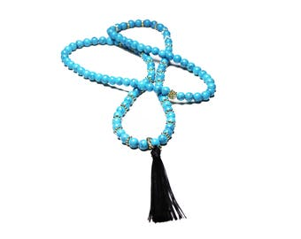 Turquoise Mala: 108 BEADS