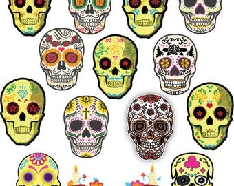 13 Skull svg Dia De Muertos svg Skull Clipart Dead Day svg png dxf eps files for Print Design T shirt Silhouette Cameo Cricut Cutting etc