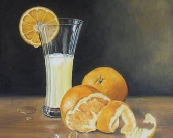 Still Life Paintings, Still life Oil Paintings, Fine Art Still Life, Orange Juice Still Life,