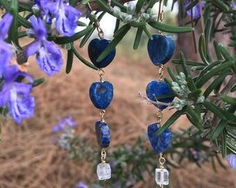 Lapis Lazuli Heart Drops